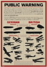 World War I Aircraft Identification Poster A3
